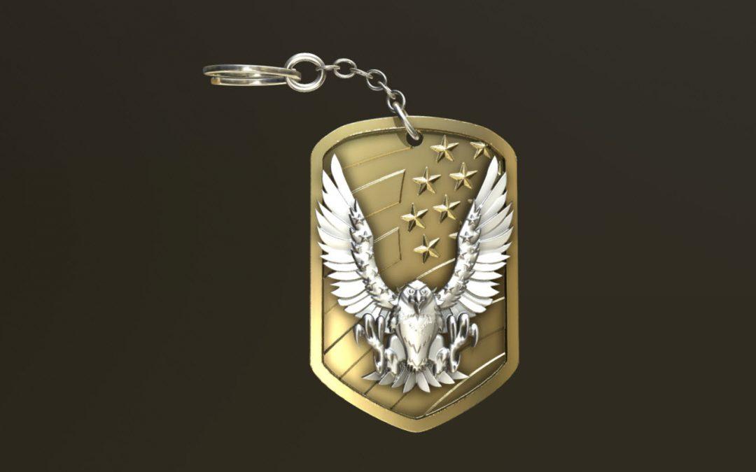 Eagle Keyring