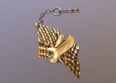Eagle Flag Keychain