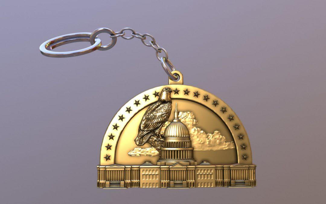 Capitol Eagle Patriotic Keychain