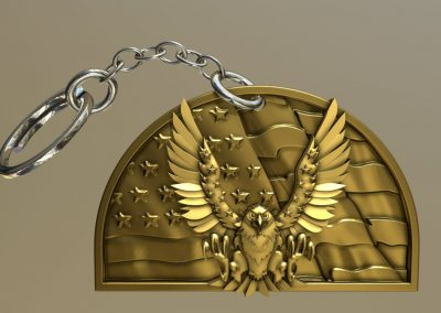 Eagle Dome Keychain